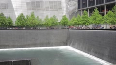 911 Memorial Reflecting Pools World Trade Center Stock Footage