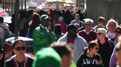 Crowded street of New York Stock Footage