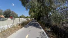 Los Angeles Valley Bike Path Time Lapse Stock Footage
