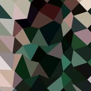 Dark Moss Green Abstract Low Polygon Background Stock Illustration