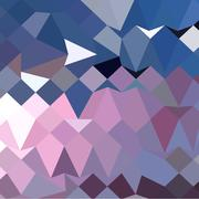 Celestial Blue Abstract Low Polygon Background - stock illustration