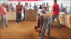 Cock Fight in Mexico (Faces Blurred) Stock Footage