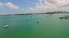 Sail boats Miami Beach 4k 2 - stock footage