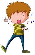 Stock Illustration of Singer