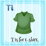 Letter T Stock Illustration