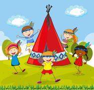 Stock Illustration of Teepee