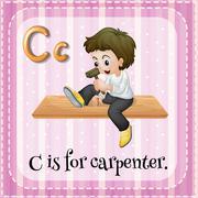 Carpenter Stock Illustration