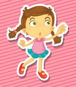 Kid dancing Stock Illustration