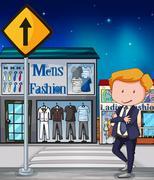 Mens Fashion Stock Illustration