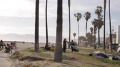 The Venice Beach Boardwalk Stock Footage