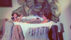 Newlyweds in jacuzzi Stock Footage