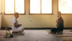 Meditation class Stock Footage