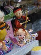 Toys for sale, Hanoi market, Vietnam Stock Photos