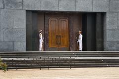 The Ho Chi Minh Mausoleum, Ba Dinh Square Central Hanoi, Vietnam Stock Photos
