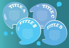 Water droplets Like Speech Bubble Vector Layout Design Stock Illustration