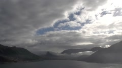 Wide shot of Hout Bay from Chapmans Peak.Time Lapse Stock Footage