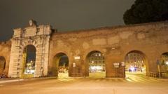 Porta San Giovanni. Panorama. Rome, Italy Stock Footage