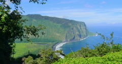 "Sacred Valley of the Kings ""Waipio Valley"" Stock Footage"