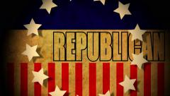 4k presidential political campaign graphic republican american - stock footage