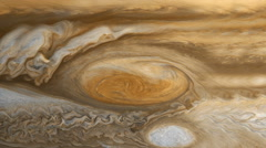 Jupiter's Red Spot realistic cloud movement - stock footage