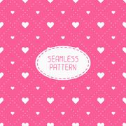Stock Illustration of Pink romantic wedding geometric seamless pattern with hearts. Wrapping paper
