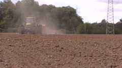 Planting crops. Agricultural industry works. Stock Footage
