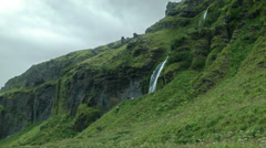 Seljalandsfoss Waterfall, ICELAND  Stock Footage