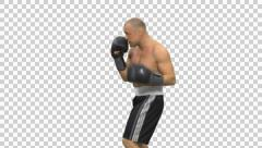 Shadowboxing, Full HD shot  (On Alpha Matte) Stock Footage