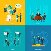 Flat Collaboration Set Stock Illustration