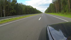 Car on the highway. POV clip Stock Footage