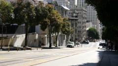 Powell street in San Francisco Stock Footage