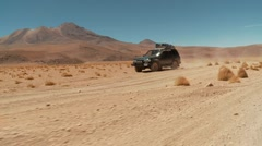 Off-road in Extreme Terrain in Bolivia, Altiplano - stock footage