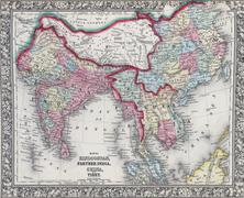 Antique map of Hindostan or India Kuvituskuvat