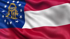 US state flag of Georgia Stock Photos