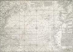 Antique map of the Atlantic Ocean Kuvituskuvat