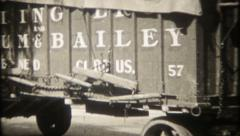2082 - Ringling Bros. Barnum & Bailey Circus parade - vintage film home movie Stock Footage
