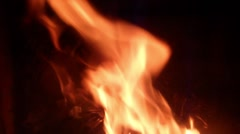 Fire burning in a oven/ fireplace with 6x speed Stock Footage