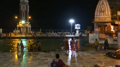 Holy Bath in Ganga River in Haridwar 5 Stock Footage