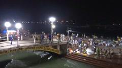 Holy Bath in Ganga River in Haridwar 7. Stock Footage