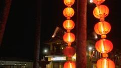 Asian streetlamps Stock Footage
