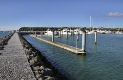 Orakei Marina is Auckland's newest marina with 180 berths, catering for vesse - stock photo