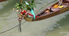 Dragon Boat Figurehead Stock Footage