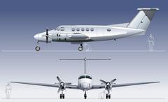 Vector civil utility aircraft Stock Illustration