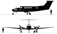 Civil utility aircraft Stock Illustration