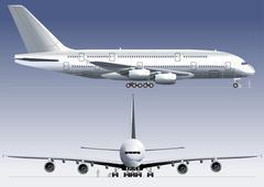 Double-deck Lagest Jetliner - stock illustration