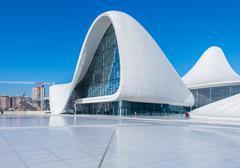 Stock Photo of BAKU- DECEMBER 27: Heydar Aliyev Center on December 27, 2014 in Baku, Azerbaijan