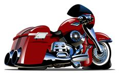 Vector Cartoon Motorbike - stock illustration
