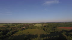 4K DRONE OVER TREES COUNTRY SIDE Stock Footage