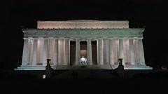 Lincoln Monument Washington DC night 4K 016 Stock Footage