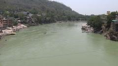 Ganga River in Rishikesh - stock footage